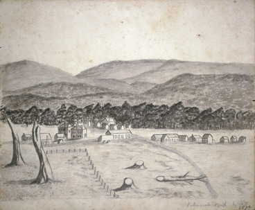 Image: Florance, Augustus H, 1812-1879 :Palmerston North by A F. 1876