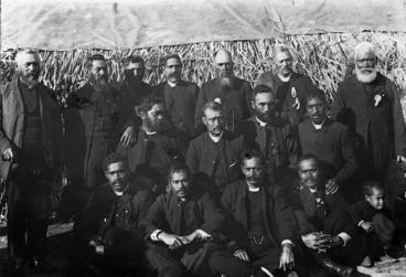 Image: Maori Anglican clergymen, East Cape, Gisborne region