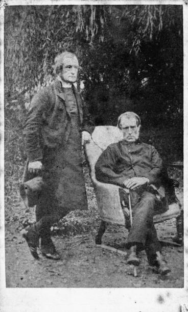 Image: Webster, Hartley fl 1852-1900 : Bishop George Augustus Selwyn and Sir William Martin