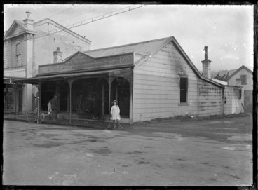 Image: Shop in Petone after a fire.