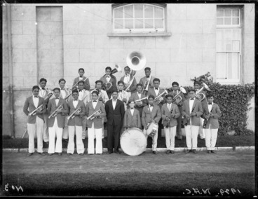 Image: Maori Agricultural College brass band, Hastings