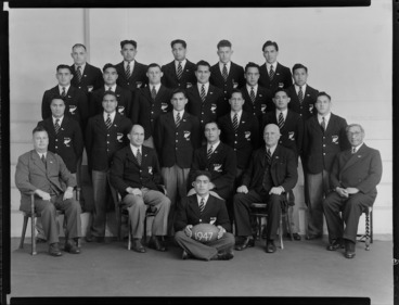 Image: New Zealand Maori Rugby Football representatives of 1947