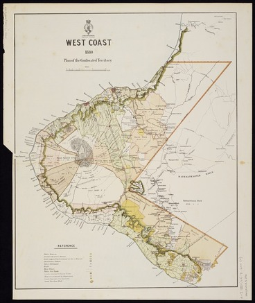 Image: West coast 1880 : plan of the confiscated territory.