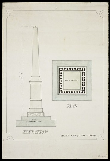 Image: [T G Hoar & Sons] :[Featherston War Memorial. ca 1920]