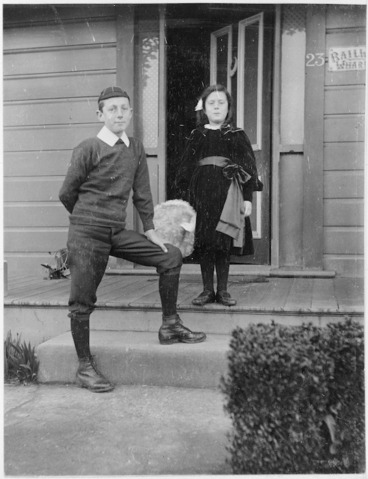 Image: Phyllis and William Godber, the photographer's children, at their home in Petone