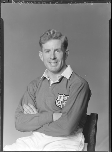 Image: Jim S McCarthy, British Lions rugby player 1950