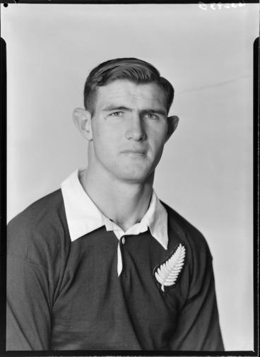 Image: Peter Frederick Hilton Jones, member of the All Blacks, New Zealand representative rugby union team