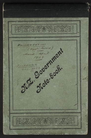Image: Andersen, Johannes Carl, 1873-1962 : Diary