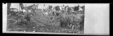 Image: Kauri gum diggers' camp, North Auckland