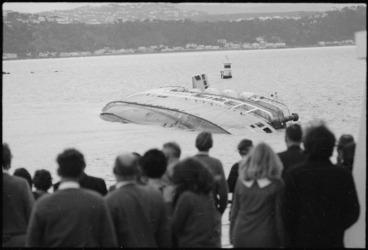 Image: Wahine shipwreck from deck of Aramoana