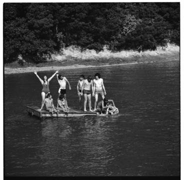 Image: Summer university congress at Curious Cove, Marlborough Sounds, 1971