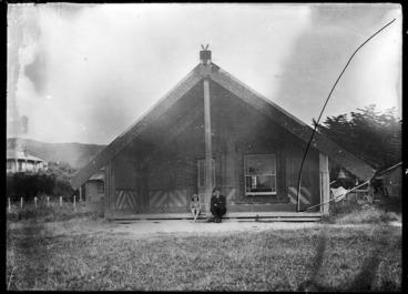 Image: Toa Rangatira meeting house at Takapuwahia, Porirua, 1924.