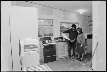 Image: Malcolm and Wendy Ackerley in kitchen of their Petone home - Photograph taken by Phil Reid