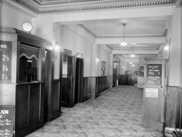 Image: Entrance foyer to the State Theatre in Petone