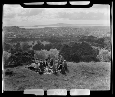 Image: View of Manukau from One Tree Hill, Auckland City