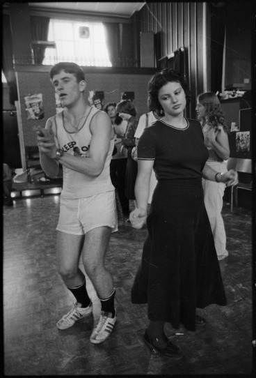 Image: Bob Easton and Hera Cook participating in a dance marathon