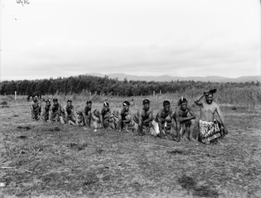 Image: Haka party at Kaiwhaiki - Photograph taken by William Henry Thomas Partington