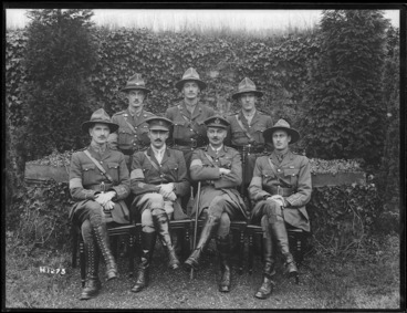 Image: Major-General Charles William Melvill with New Zealand Staff Force officers