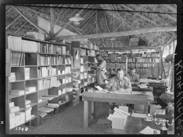 Image: Library for World War II soldiers, probably in the Pacific