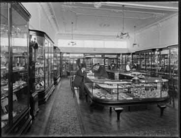 Image: Shop interior, B Petersen Jewellers store, Christchurch