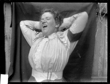 Image: Amy Kirk yawning