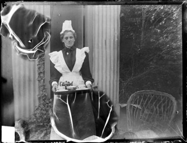 Image: Woman with tea tray