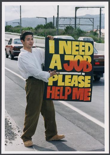 Image: Daniel Middleton advertising for work - Photograph taken by Ray Pigney