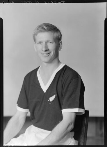 Image: Mr A Inglis, member of New Zealand representative soccer team, New Zealand Football Association world tour of 1964