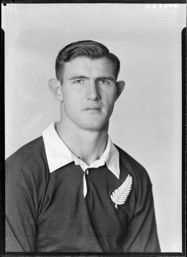 Image: Peter Jones, member of 1953-1954 All Black touring team