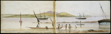 Image: Williams, Edward Arthur 1824-1898 :Auckland Harbour, August 1864.