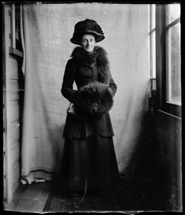 Image: Woman in enclosed verandah
