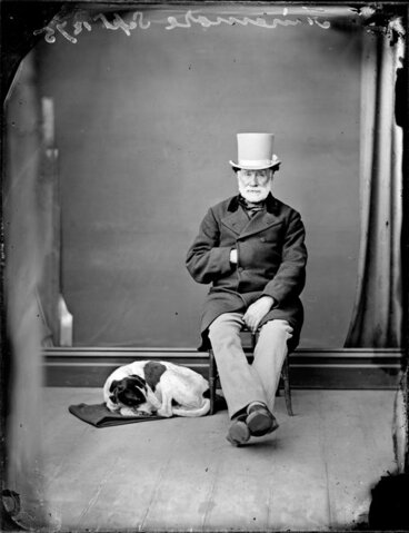 Image: Mr Finamore, with dog