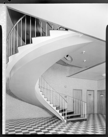 Image: Interior of staircase, Government Life building, Rotorua
