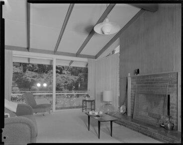 Image: Lounge, S Taylor house, Napier