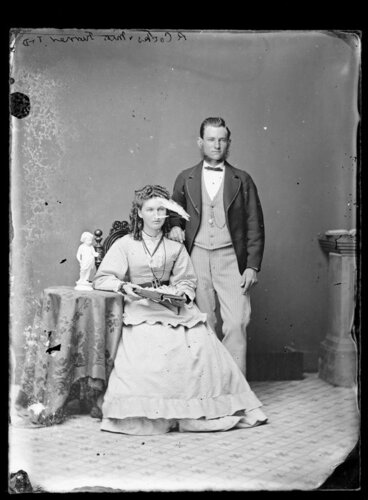 Image: Mr R Cocks and Miss Turner - Photograph taken by Thompson & Daley of Wanganui