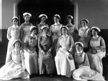 Image: Group portrait of nurses from Christchurch hospital