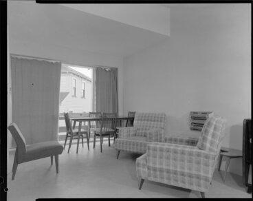 Image: Dining room interior, Clifton Terrace flats, Wellington