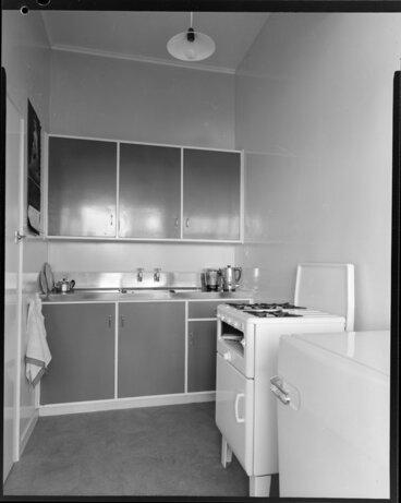 Image: Kitchen interior, Clifton Terrace flats, Wellington
