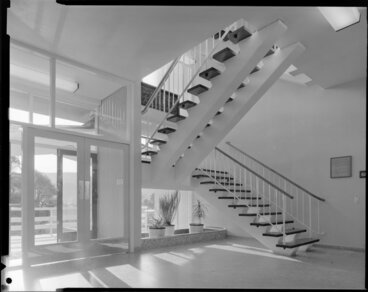 Image: Interior stairs, Ministry of Works, Soil Bureau building, Taita, Lower Hutt, Wellington