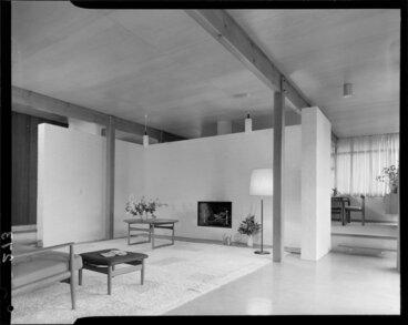 Image: Lounge interior, McKay house, Silverstream, Upper Hutt, Wellington