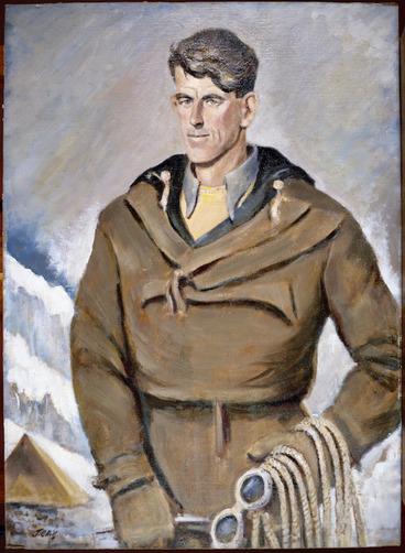 Image: Hill, John Cecil, 1889-1974 :Sir Edmund Hillary [ca 1953]