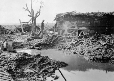 Image: Gater Point, on the battlefield near Zonnebeke, Ypres Sector, Belgium, during World War I