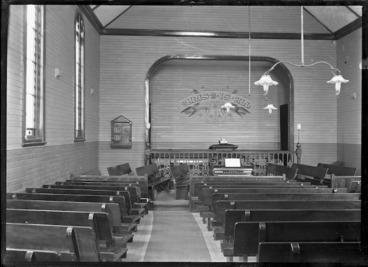 Image: Inside the Baptist Church, Buick Street, Petone