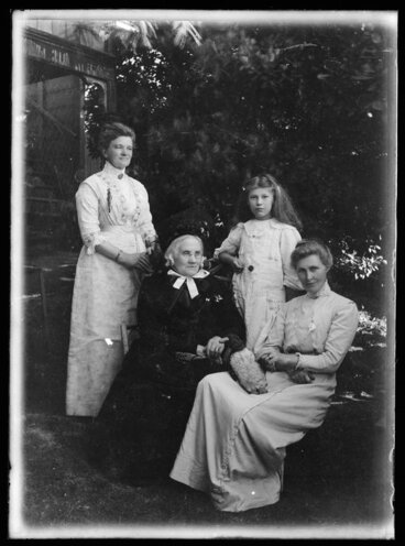 Image: Group portrait of Amy and Sarah Jane Kirk, Janet Atkinson, and Robina Nicol.