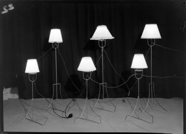 Image: Six freestanding lamps