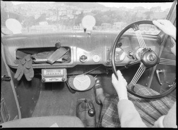 Image: Car interior showing Gulbransen car radios