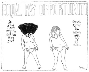 Image: Brockie, Bob, 1932- :Equal Pay Opportuniti. National Business Review, 14 December 1990.