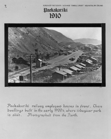 Image: Northern view of Paekakariki showing railway employee houses
