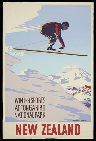 Image: King, Marcus, 1891-1983 :Winter sports at Tongariro National Park New Zealand [ca 1960]
