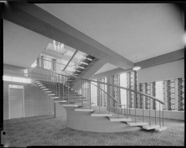 Image: Awapuni Grandstand interior stairwell, Palmerston North